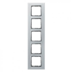 B7 Ramka pięciokrotna szklana aluminium