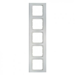 B3 Ramka pięciokrotna aluminium / biały