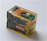 Przekaźnik RU4S-A220 4 styki przełączne, 6A, LED, przycisk, styki złocone  IDEC