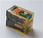 Przekaźnik 4-biegunowy, RU4S, 6A, DC 12V, LED, przycisk, IDEC RU4S-D12
