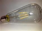 Żarówka LED Filament E27 230V 4W biała ciepła ST64