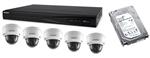 Zestaw rejestrator + kamery IP kopułkowe + dysk 4TB
