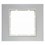 B3 Ramka pojedyńcza aluminium / biały