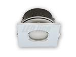 Oprawa LED line® wodoodporna kwadratowa stała chrom