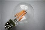 Żarówka LED E27 230V 6W 660lm COG globe biała ciepła Filament