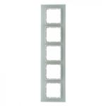 B7 Ramka pięciokrotna szklana biała
