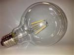 Żarówka LED Filament E27 230V 6W biała ciepła G95