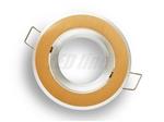 Oprawa LED line® okrągła ruchoma złota szczotkowana