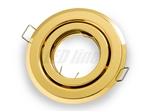 Oprawa LED line® okrągła ruchoma złota blaszana