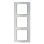 B3 Ramka potrójna aluminium / biały