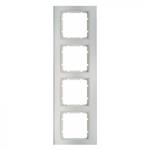 B3 Ramka poczwórna aluminium / biały