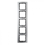 B3 Ramka pięciokrotna aluminium / antracyt