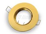 Oprawa LED line® okrągła ruchoma złota odlew