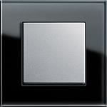 Ramka 1 krotna szkło czarne GIRA ESPRIT